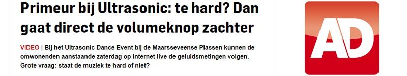 algemeen dagblad, AD, Utrecht, Ultrasonic, rtv utrecht, , geluidsmetingen, decibel, festival, Utrecht, verhuur, overlast, klachten, muziek, te hard